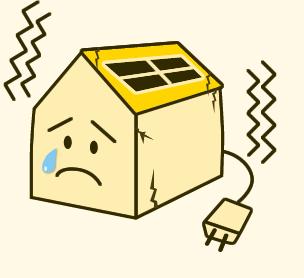 太陽光パネルは意外と重いんです!